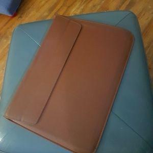 Vegan leather laptop sleeve